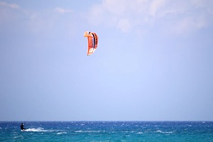 Kiteboarders enjoy the good winds in Anambas too